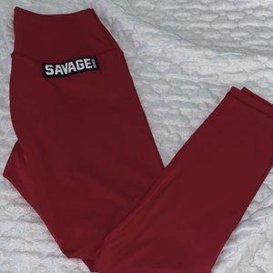 SAVAGE BARBELL HIGH WAIST LEGGINGS SZ S